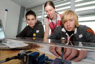 Students swap the classroom for the synchrotron
