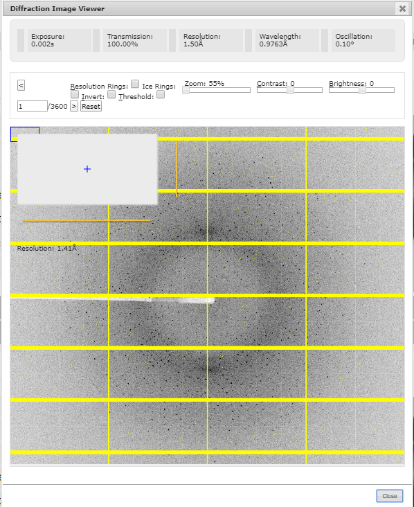 diffraction image viewer