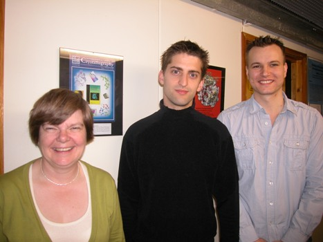 Researchers at the Department of Pharmacology, University of Oxford. From left to right: Edith Sim, Nathan Lack and Isaac Westwood.