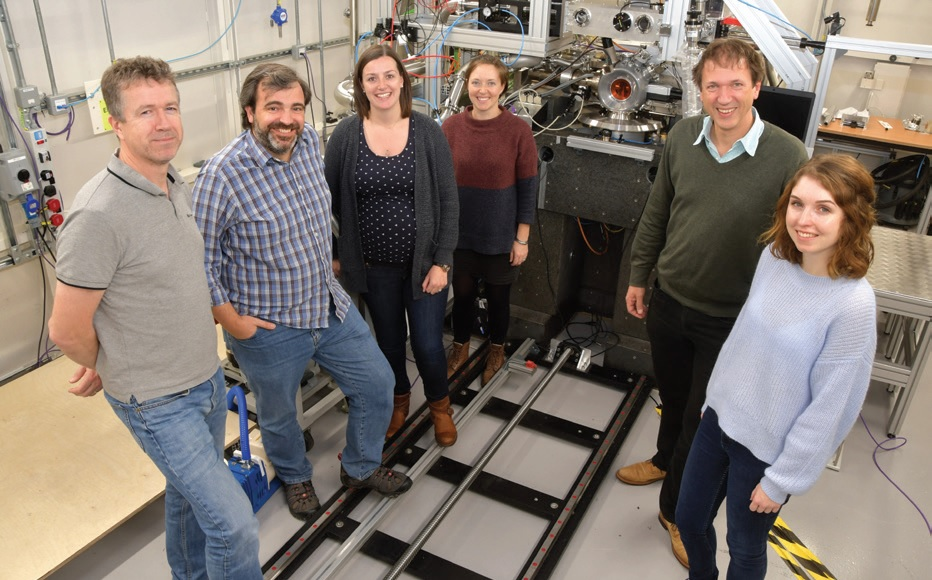 First users and beamline team on VMXm, from left to right: Gwyndaf Evans (PBS), Jose