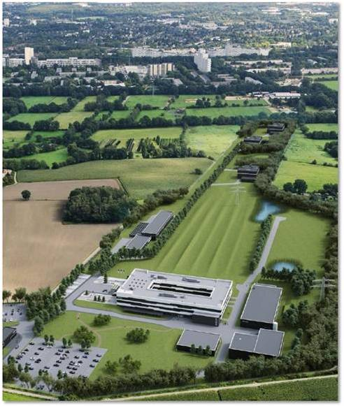 Artist's impression of the European XFEL which is currently under construction in Hamburg, Germany. The UK-XFEL Hub will serve as a valuable resource for UK users of the European XFEL's SFX beamline.